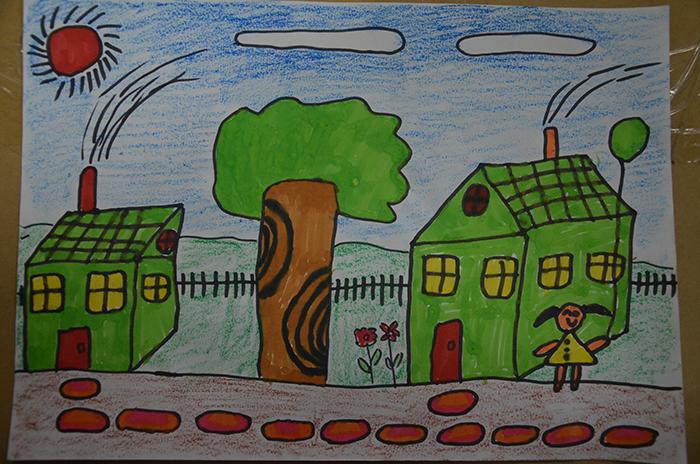 我爱家乡美_以家乡为主题的画-以家乡为主题的风景画/以家乡环保为主题的画 ...