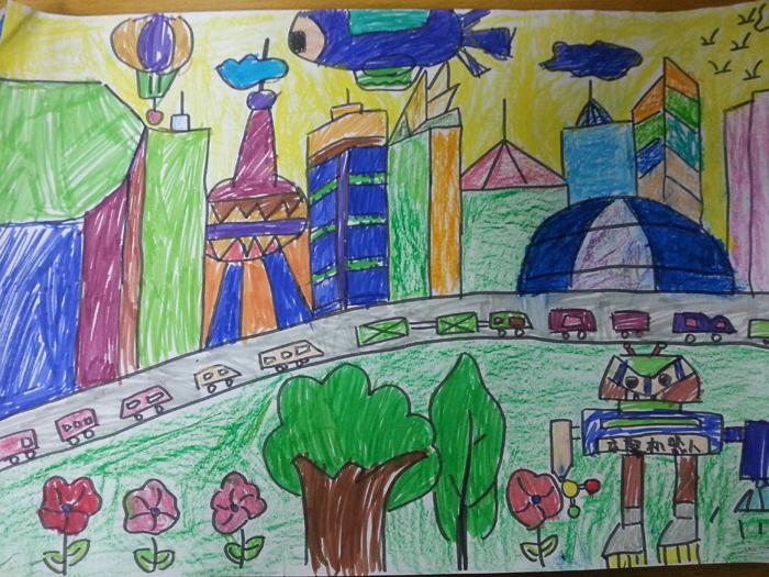 幼儿城市简笔画