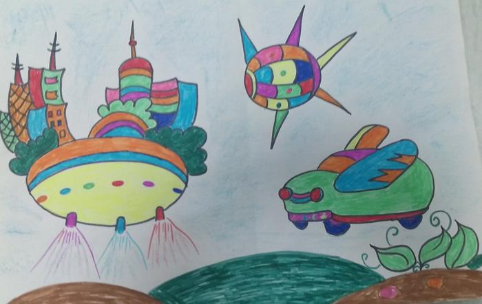 未来交通工具儿童画画画大全