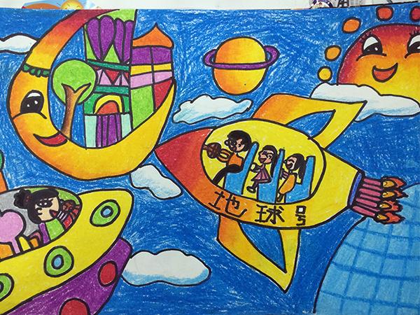 儿童想象太空飞船画-宇宙飞船图片