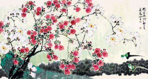烟台画院将举办草木传情 侯晓峰花鸟画展