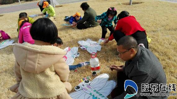 拥抱春天放飞梦想 西苑社区绘制风筝创意活动图片