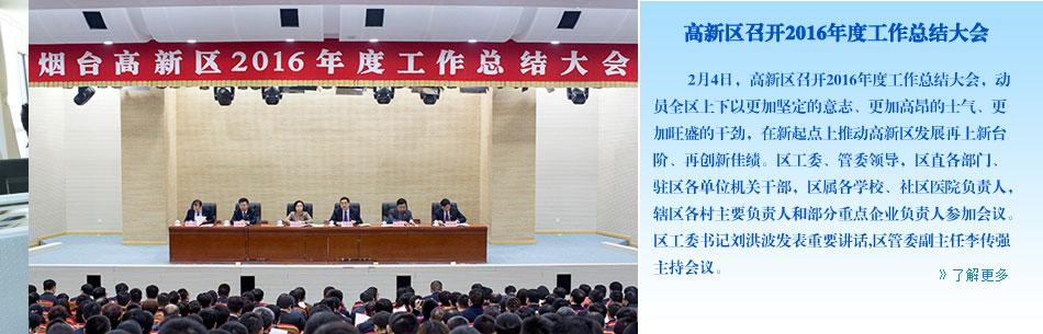 高新区召开2016年度工作总结大会